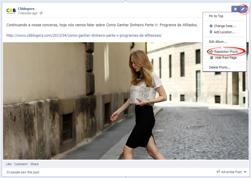 reposition full with facebook image