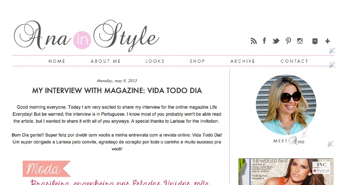 ana in style blog