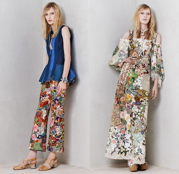 alexander-mcqueen-2014-resort-cruise-pre-spring-womens-presentation-fashion-denim-jeans-patchwork-military-pockets-belts-uniforms-flowers-floral-embroidery-lace-