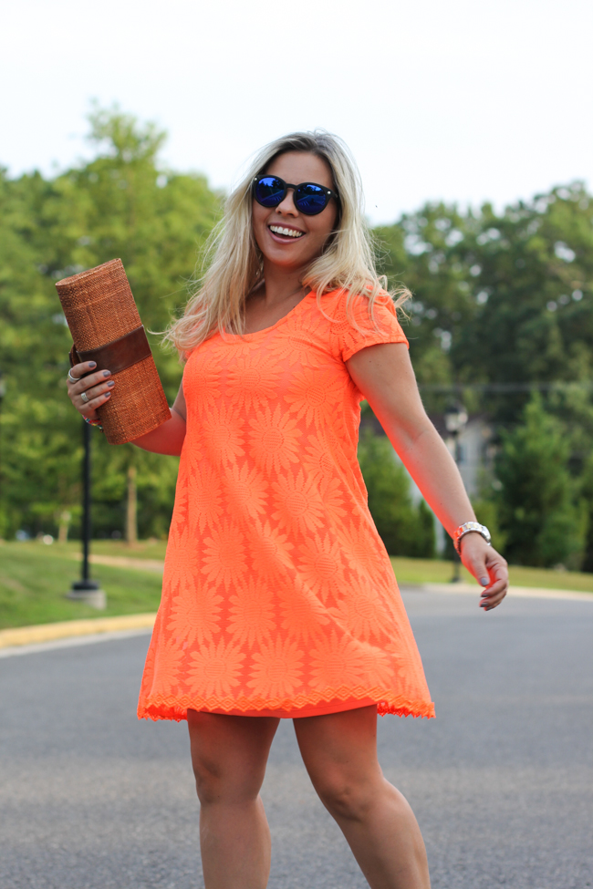Orange Lace Dress Urban Outfitters-3