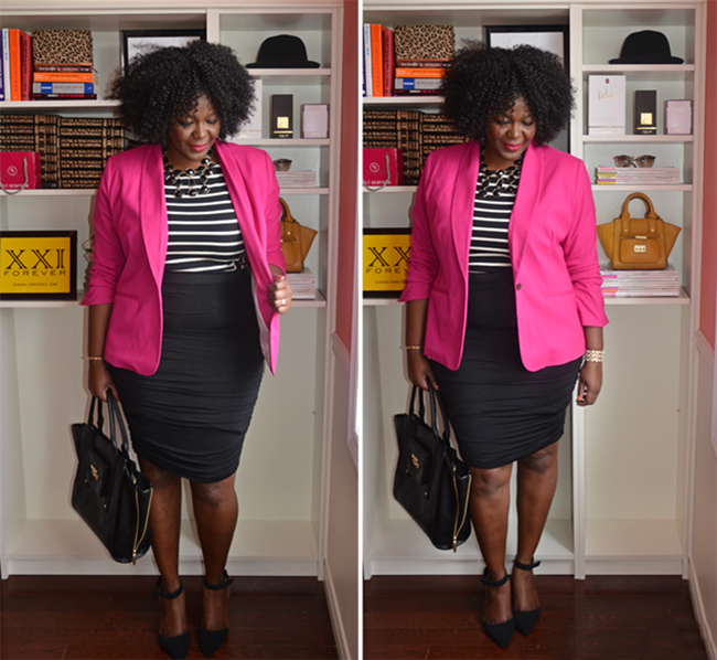 30x30-outfit-challenge-pink-blazer-and-striped-dress-mycurves-andcurls